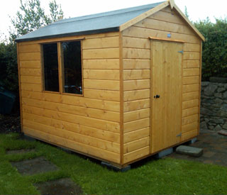 example of an apex roof garden shed - Garden Sheds Galway