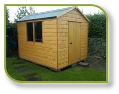 Garden Sheds Galway products, pat's portable cabins, garden sheds, playhouses, timber