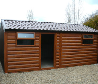 Garden Sheds Galway steel sheds at pat's portable cabins, galway, ireland